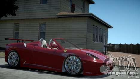 Ferrari F430 Spider para GTA 4 Vista posterior izquierda