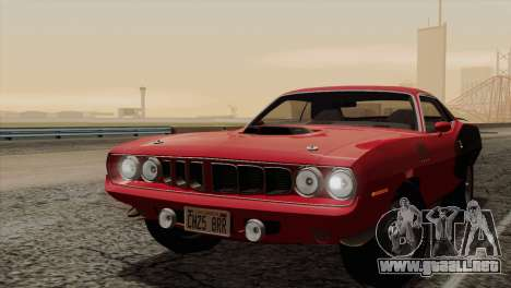 Plymouth Hemi Cuda 426 1971 para el motor de GTA San Andreas