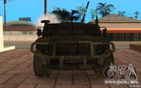 Gaz 2975 tigre para visión interna GTA San Andreas