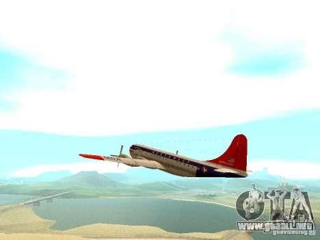 Boeing 377 Stratocruiser para GTA San Andreas vista hacia atrás