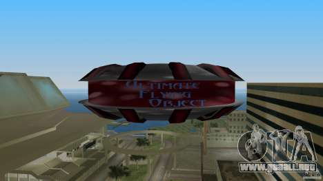 Ultimate Flying Object para GTA Vice City visión correcta