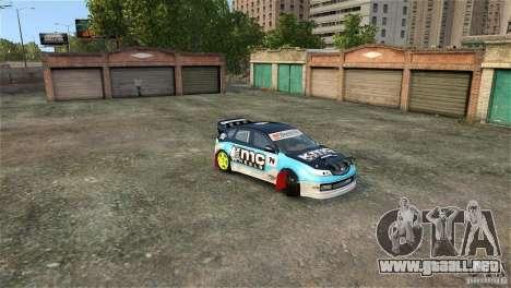 Subaru Impreza WRX STI Rallycross KMC Wheels para GTA 4 vista superior