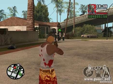BulletStorm M4 para GTA San Andreas tercera pantalla
