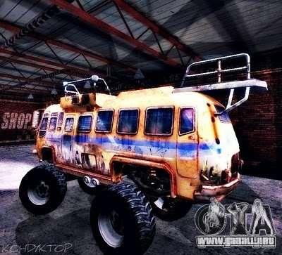 Bullet Storm Bus para GTA San Andreas vista hacia atrás