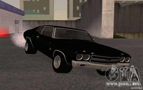 Chevrolet Chevelle SS para GTA San Andreas vista hacia atrás