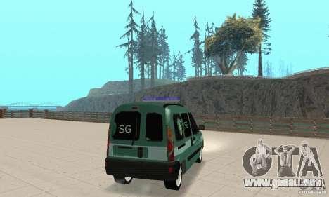 Renault Kangoo Straz Graniczna para GTA San Andreas left