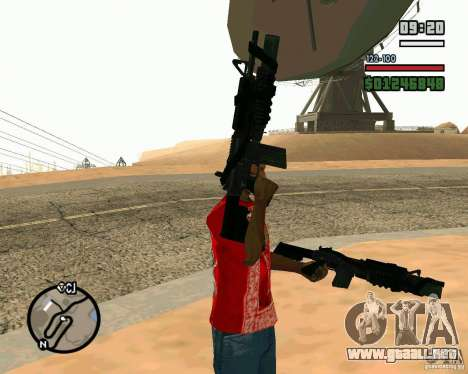 Black Ops Commando para GTA San Andreas segunda pantalla