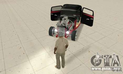 Ford Hot Rod 1932 para GTA San Andreas vista hacia atrás