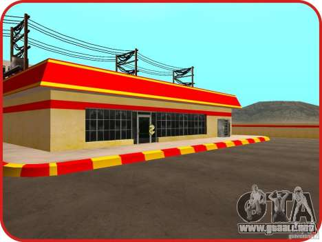 Nueva estación de servicio Shell para GTA San Andreas quinta pantalla
