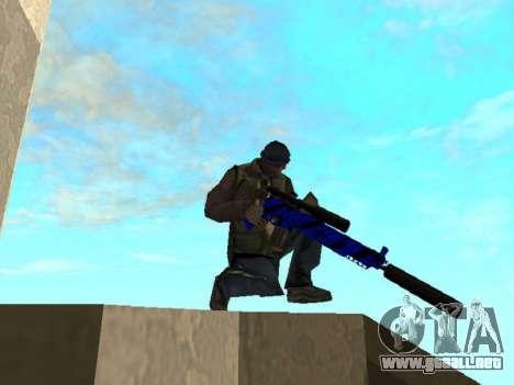 Blue and black gun pack para GTA San Andreas quinta pantalla