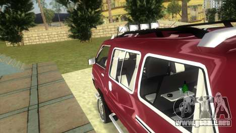 Toyota Town Ace-Tuning para GTA Vice City vista posterior