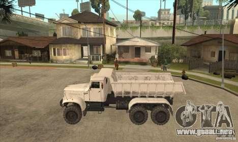 Camión KRAZ 225 para GTA San Andreas left