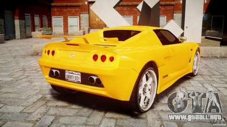 Watson R-Turbo Roadster para GTA 4 Vista posterior izquierda