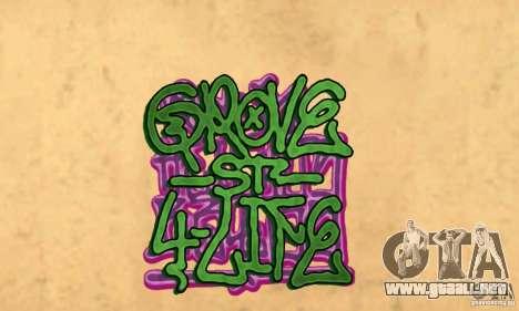 Nuevo graffiti en las paredes para GTA San Andreas segunda pantalla