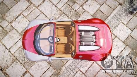 Bugatti Veyron Grand Sport [EPM] 2009 para GTA 4 Vista posterior izquierda