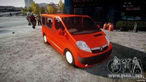 Renault Trafic para GTA 4 visión correcta