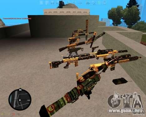 Smalls Chrome Gold Guns Pack para GTA San Andreas segunda pantalla