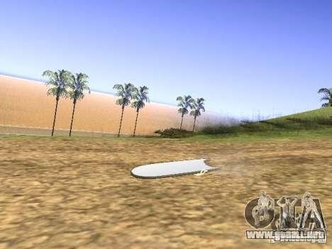 Aèrobord de la película volver al futuro 2 para GTA San Andreas left