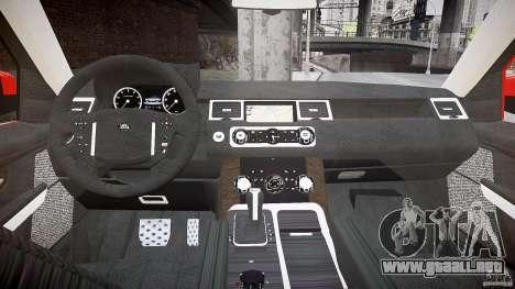 Range Rover Sport para GTA 4 vista hacia atrás