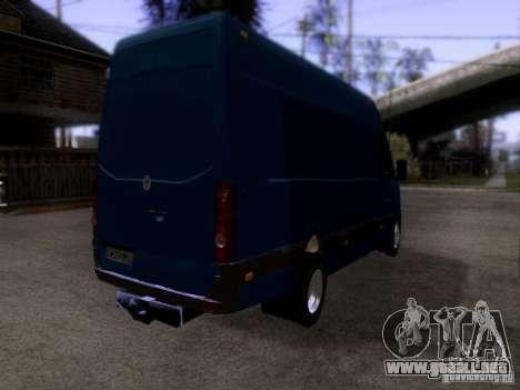 Volkswagen Crafter XL para GTA San Andreas vista posterior izquierda