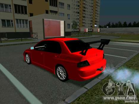 Mitsubishi Lancer Drift para la visión correcta GTA San Andreas