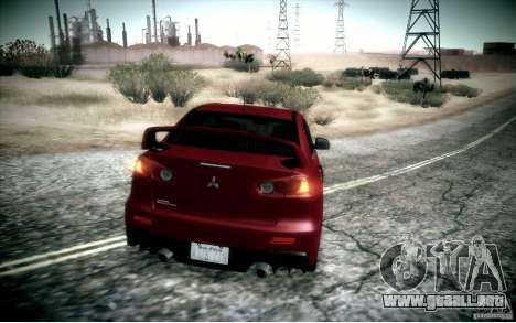 Mitsubishi Lancer Evolution X para visión interna GTA San Andreas