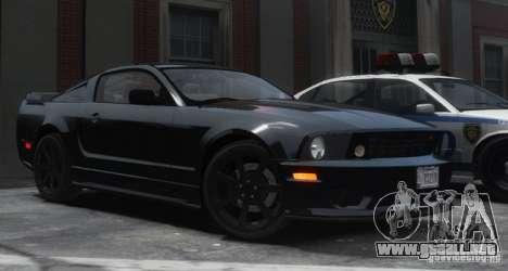 Saleen S281 Extreme Unmarked Police Car para GTA 4 vista hacia atrás