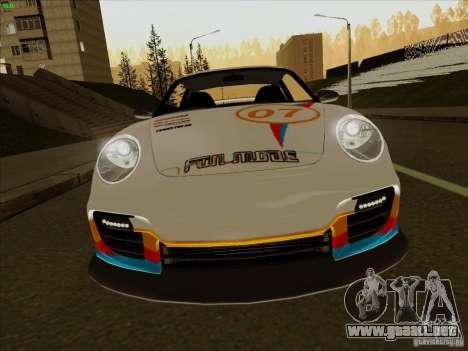 Porsche 997 GT2 Fullmode para visión interna GTA San Andreas
