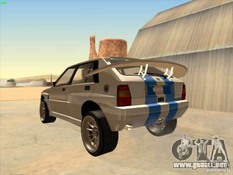 Lancia Integrale Evo para GTA San Andreas left