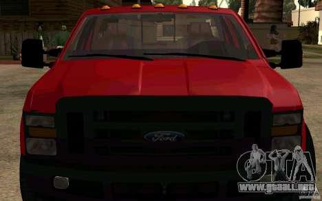 Ford F250 Super Dute para la visión correcta GTA San Andreas