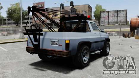 Rancher Tow Truck ELS para GTA 4 Vista posterior izquierda