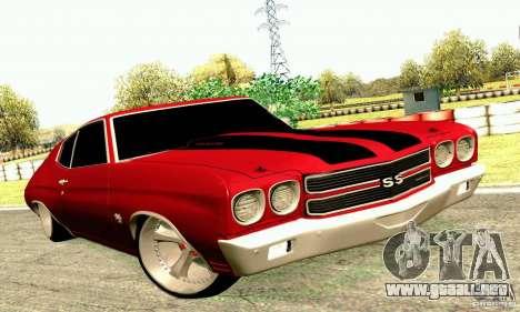 Chevrolet Chevelle 1970 para visión interna GTA San Andreas