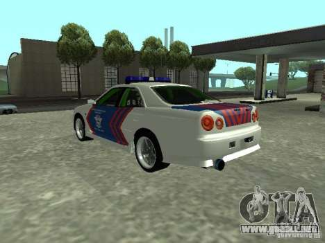 Nissan Skyline Indonesia Police para GTA San Andreas left