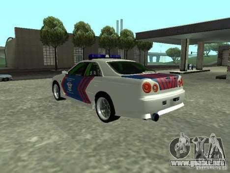 Nissan Skyline Indonesia Police para GTA San Andreas left