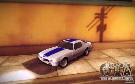 Pontiac Firebird 1970 para GTA San Andreas interior