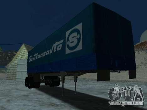 Trailer de Kamaz 5410 para GTA San Andreas vista hacia atrás