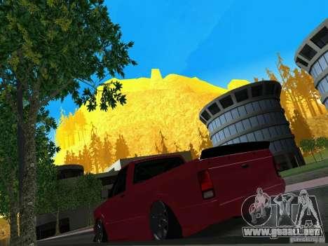 GMC Syclone Drift para GTA San Andreas vista hacia atrás