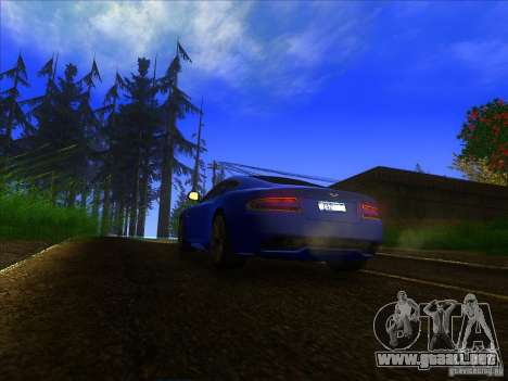 Aston Martin Virage 2011 Final para GTA San Andreas vista hacia atrás