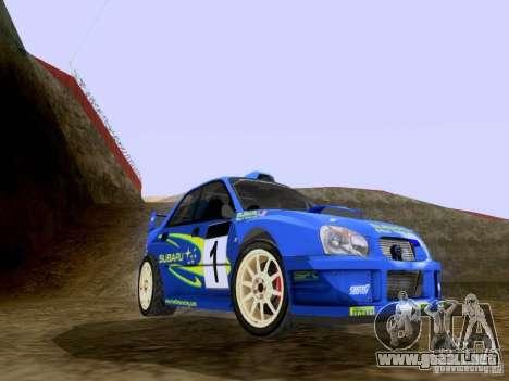 Subaru Impreza WRC 2003 para GTA San Andreas left