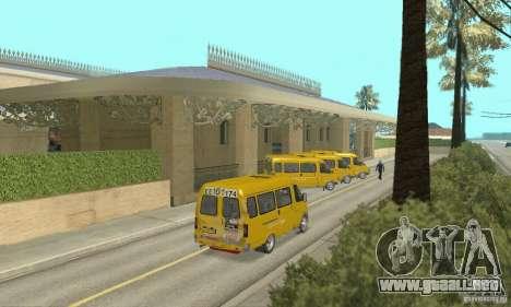 Gaz 2705 Minibus para GTA San Andreas left