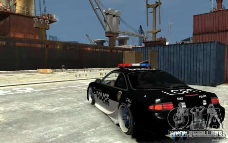 Nissan 200SX Police v0.2 para GTA 4 Vista posterior izquierda