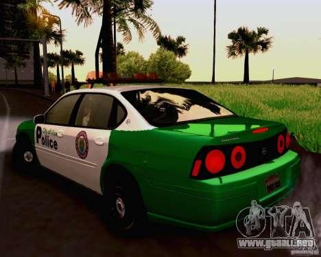 Chevrolet Impala 2003 VCPD police para GTA San Andreas left