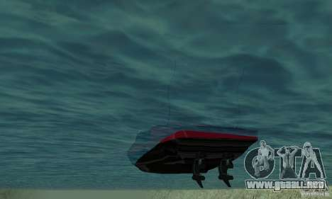 GTAIV TBOGT Smuggler para GTA San Andreas vista hacia atrás