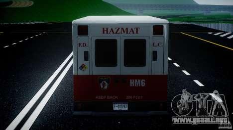 LCFD Hazmat Truck v1.3 para GTA 4 interior