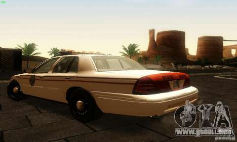 Ford Crown Victoria North Dakota Police para GTA San Andreas left