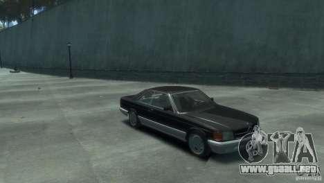 Mercedes-Benz w126 560SEC para GTA 4 visión correcta