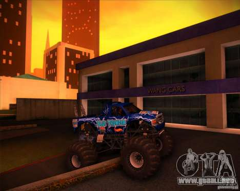 Monster Truck Blue Thunder para la vista superior GTA San Andreas
