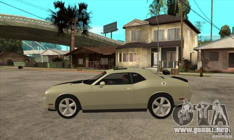 Dodge Challenger SRT8 2009 para GTA San Andreas left