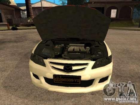 Mazda 6 Police Indonesia para la visión correcta GTA San Andreas