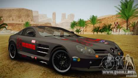 Mercedes SLR McLaren 722 Edition Final para GTA San Andreas interior